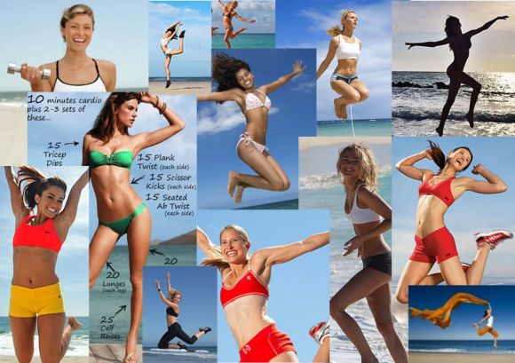 beach jump strand hopp hälsa